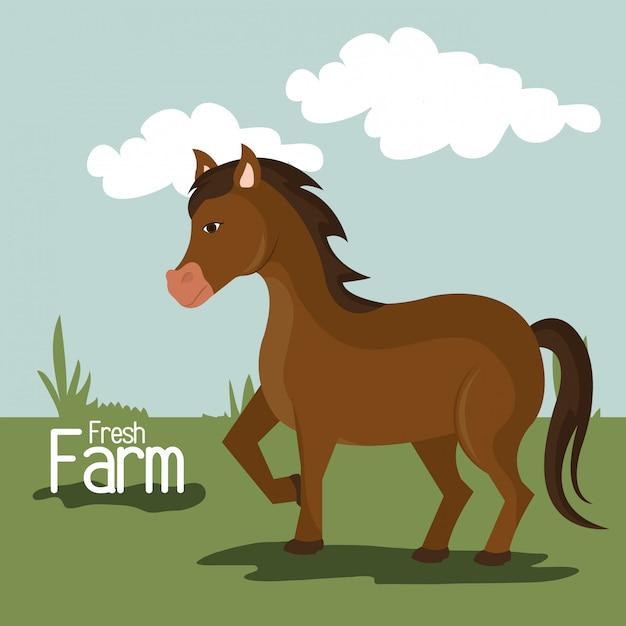Natuur en levensstijl van de boerderij Gratis Vector