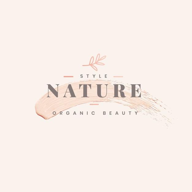 Natuur logo sjabloonontwerp Gratis Vector