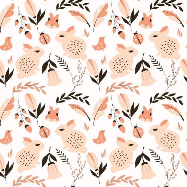 Natuur patroon ontwerp Gratis Vector