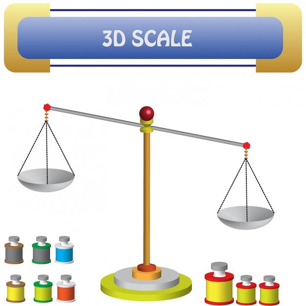Natuurkunde - weegschaal vragen en materialen Premium Vector
