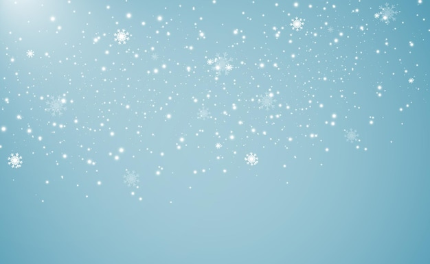 Natuurlijk fenomeen van sneeuwval of sneeuwstorm achtergrond Premium Vector