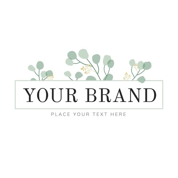 Natuurlijk logo-ontwerp Gratis Vector