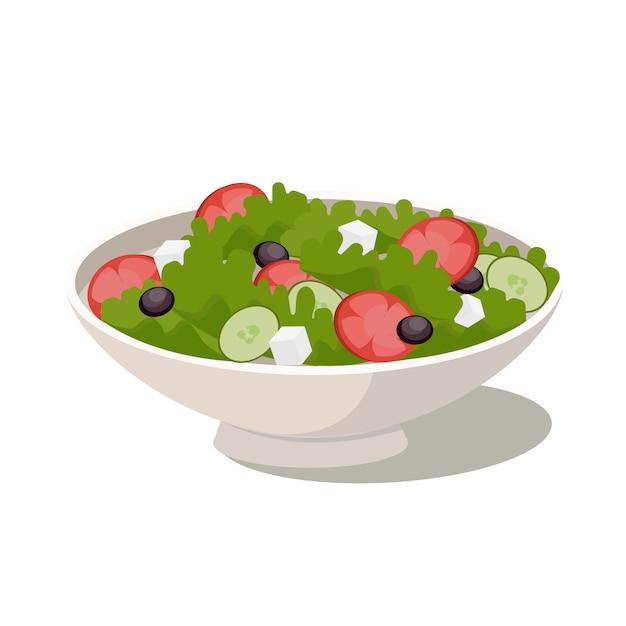 Natuurlijke groente verse salade. biologisch voedsel, dieet. Premium Vector