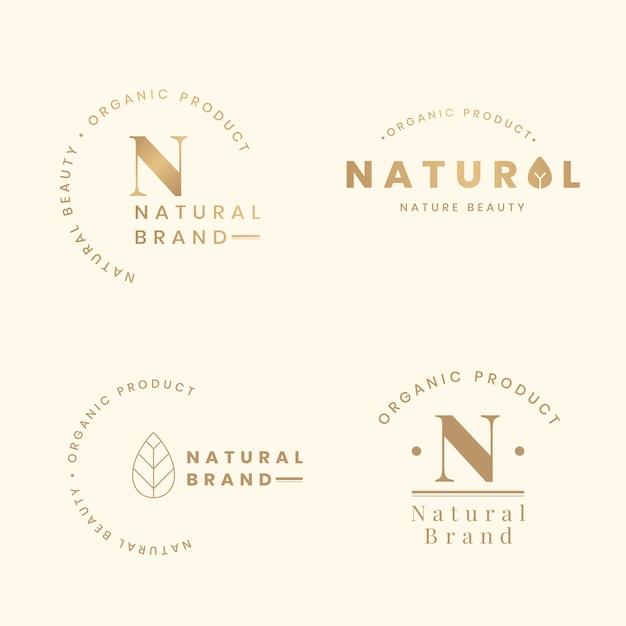 Natuurlijke logosets Gratis Vector