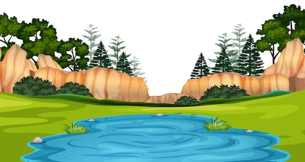 Natuurlijke omgeving lanscape scène Gratis Vector