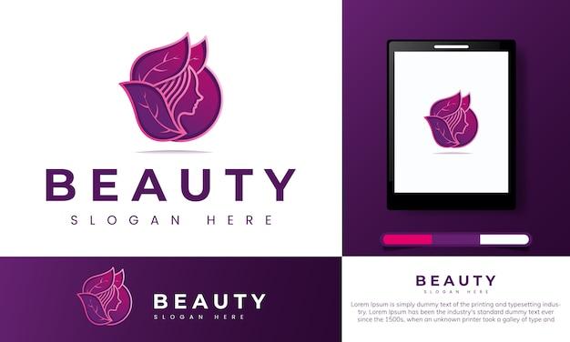 Natuurlijke schoonheid logo Premium Vector