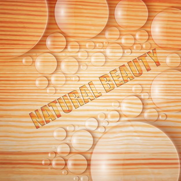 Natuurlijke schoonheid met waterdruppels en bellen realistische afbeelding Gratis Vector