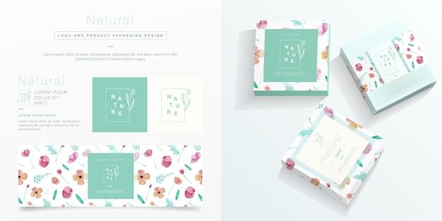 Natuurlijke verpakking in minimalistische stijl. Premium Vector