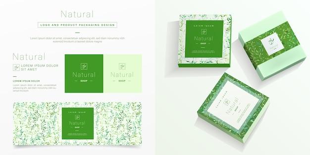 Natuurlijke verpakking sjabloon. Gratis Vector