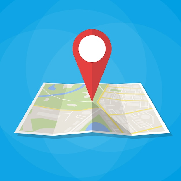 Navigatiekaart pictogram Premium Vector
