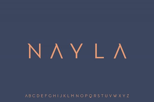 Nayla, elegant modern luxe lettertype Premium Vector