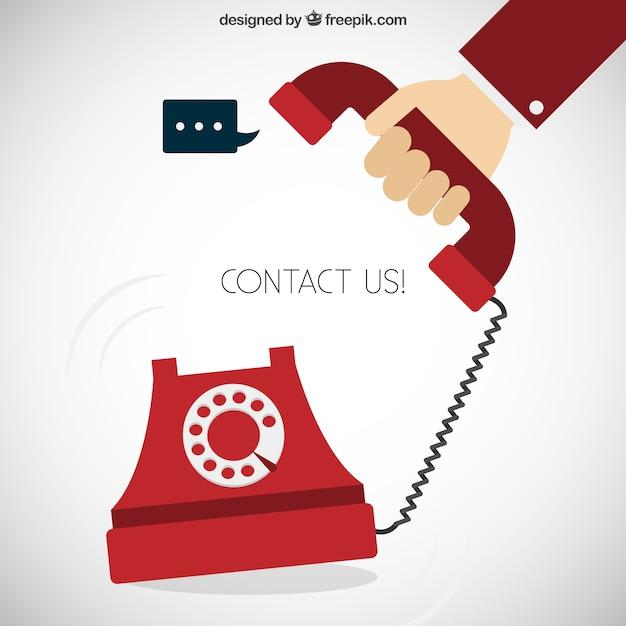 Neem contact met ons begrip Gratis Vector