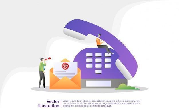 Neem contact met ons op. klantenservice 24/7, online ondersteuning, helpdesk. Premium Vector