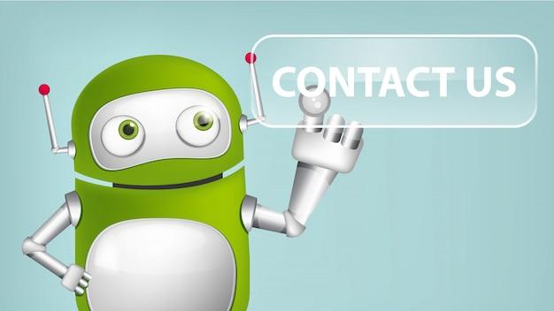 Neem contact met ons op Premium Vector