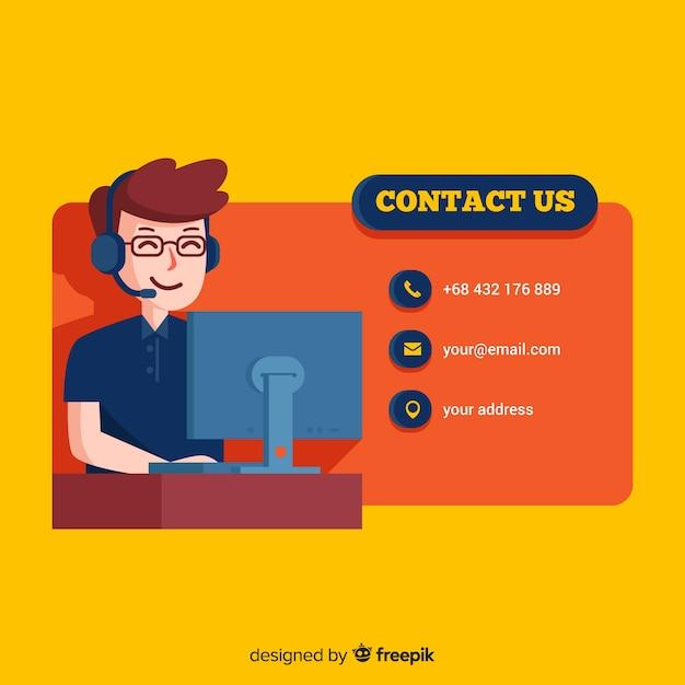 Neem contact met ons op Gratis Vector