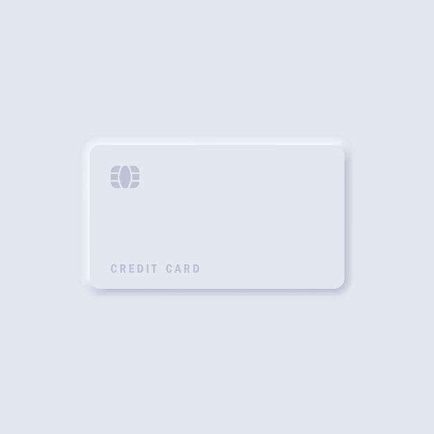 Neomorfisme creditcard sjabloon Premium Vector