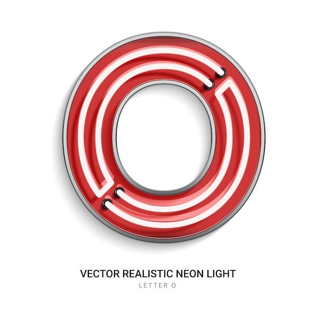 Neon letter o Premium Vector