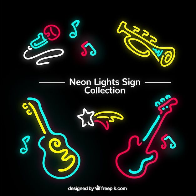 Neon verlichting van de instrumenten Vector | Gratis Download