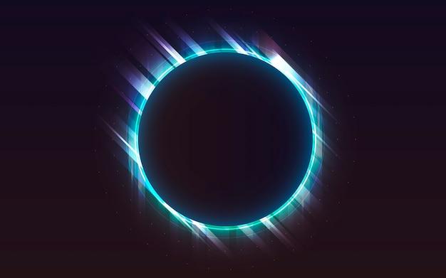 Neonlicht achtergrond Gratis Vector