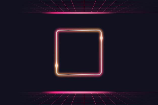 Neonlicht frame Gratis Vector