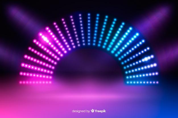 Neonlichten fase achtergrond Gratis Vector