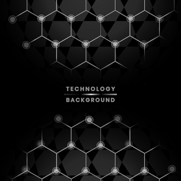 Netwerk en technologie achtergrond Gratis Vector