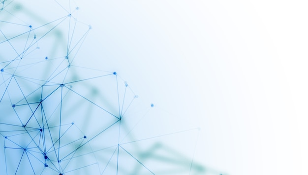 Netwerk mesh draad digitale technologie achtergrond Gratis Vector