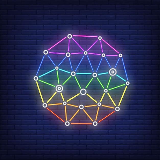 Netwerk metafoor neonteken. technologie, internet, netwerk. Gratis Vector