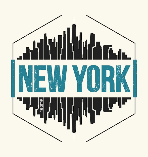 New york city illustratie Premium Vector