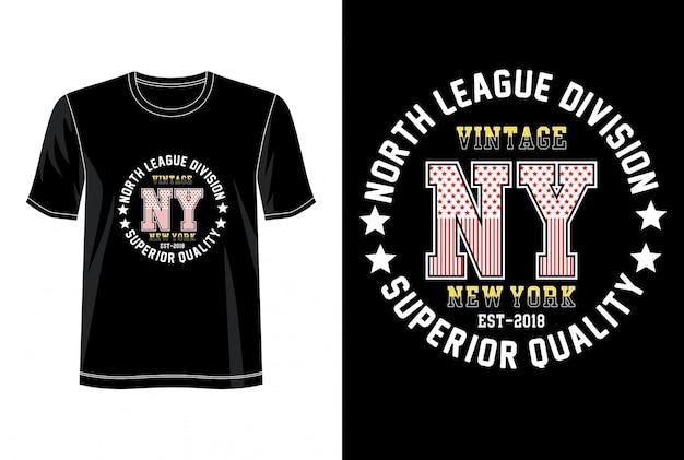 New york typografie voor print t-shirt Premium Vector