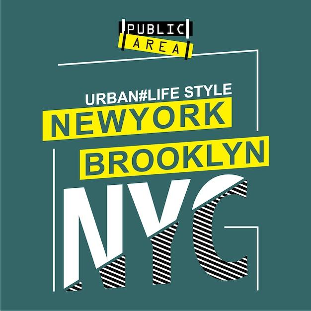 New york typografieontwerp Premium Vector