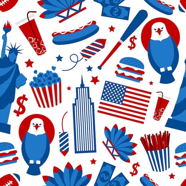 New york usa naadloze patroon Gratis Vector