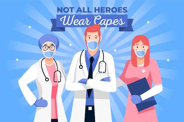 Niet alle helden dragen capes geïllustreerd concept Gratis Vector