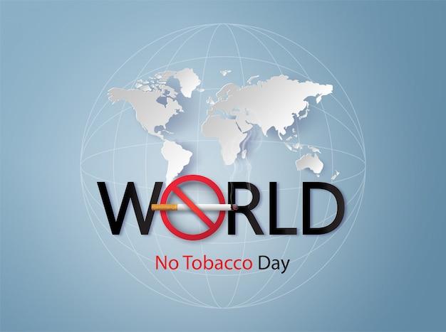 Niet roken en werelddag zonder tabak, Premium Vector