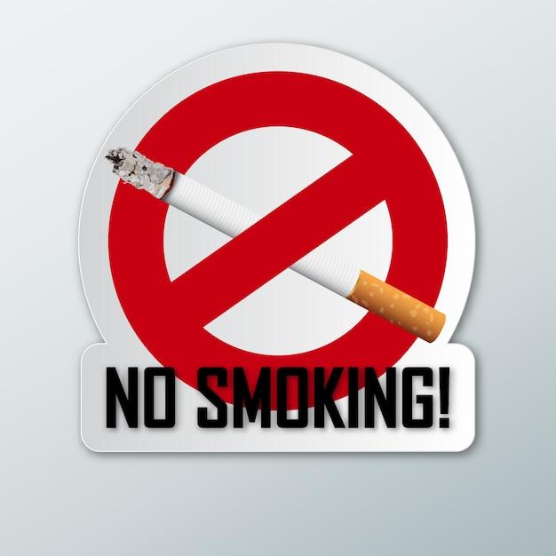 Niet roken. Premium Vector