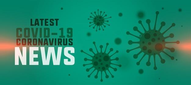 Nieuw coronavirus laatste nieuws en updatesbannerconcept Gratis Vector