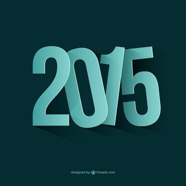 Nieuw jaar 2015 Gratis Vector