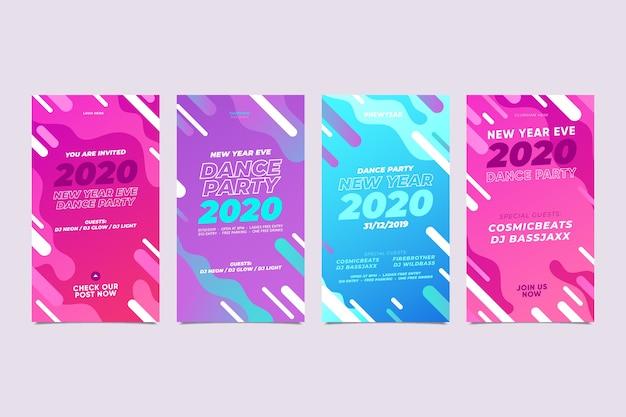 Nieuw jaar 2020 instagram verhaal assortiment Gratis Vector