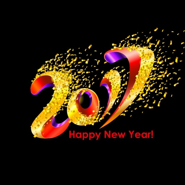 Nieuw jaar als achtergrond Premium Vector