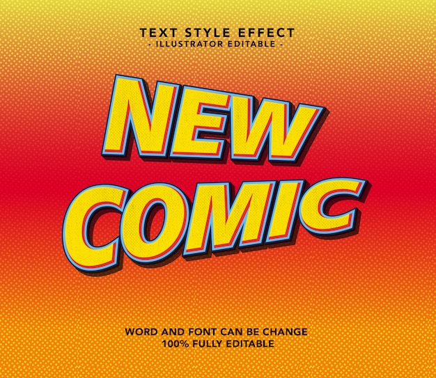Nieuw komisch lettertype Premium Vector