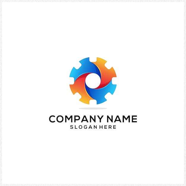 Nieuw logo-pictogram kleurrijk Premium Vector