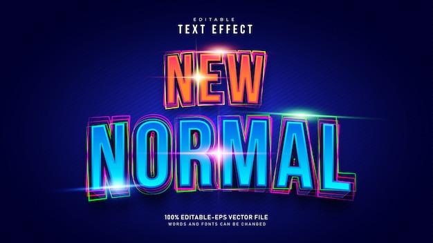 Nieuw normaal teksteffect Gratis Vector