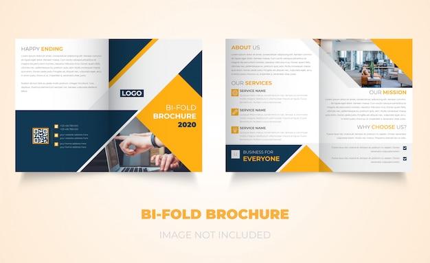 Nieuw tweevoudig brochureontwerp voor bedrijven Premium Vector