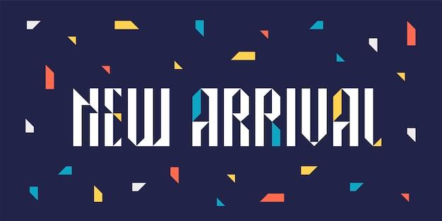 Nieuwe aankomstillustratie voor detailhandel en opslag Premium Vector