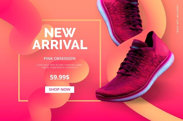 Nieuwe aankomstsjabloon voor uw online winkel Gratis Vector
