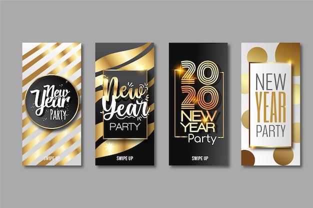 Nieuwe collectie verhaalcollecties instagram 2020 voor het nieuwe jaar Gratis Vector