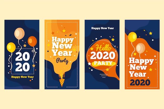 Nieuwe collectie verhaalcollecties instagram 2020 voor nieuwjaar Gratis Vector