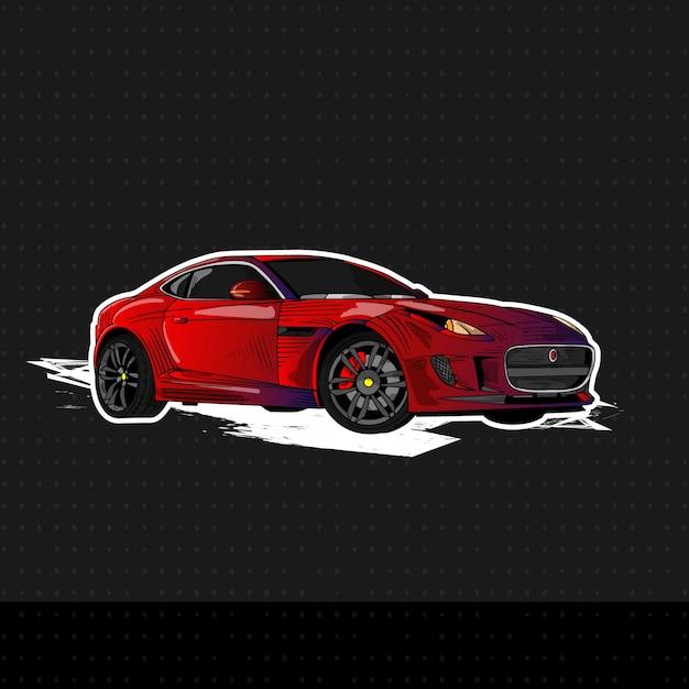 Nieuwe sportwagen 2019 Premium Vector