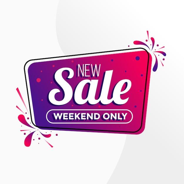 Nieuwe verkoop banner kleurrijke verloop Premium Vector