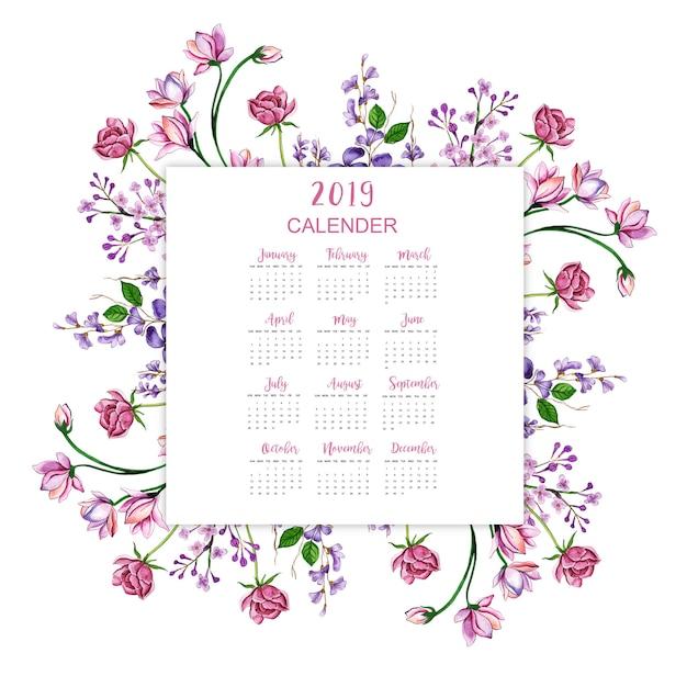 Nieuwjaars kalender Premium Vector